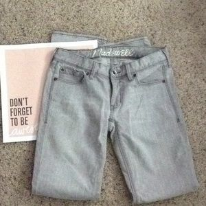 Madewell Rail Straight Gray Jeans